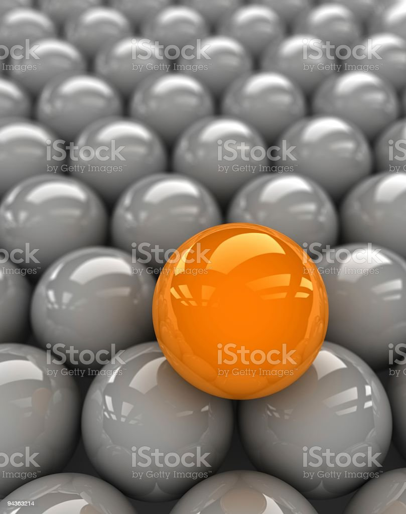 especial orange sphere stock photo