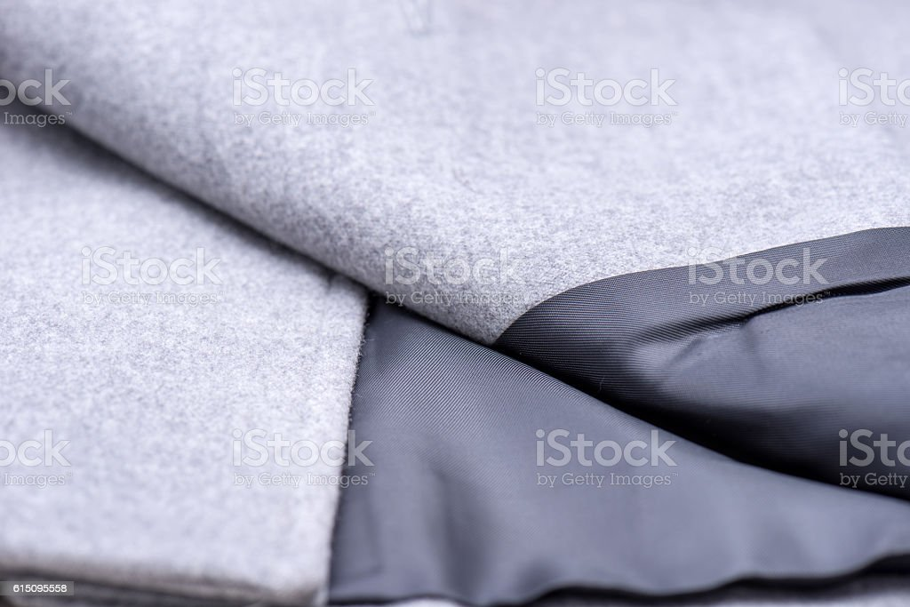 especially internal fabric to coat stock photo