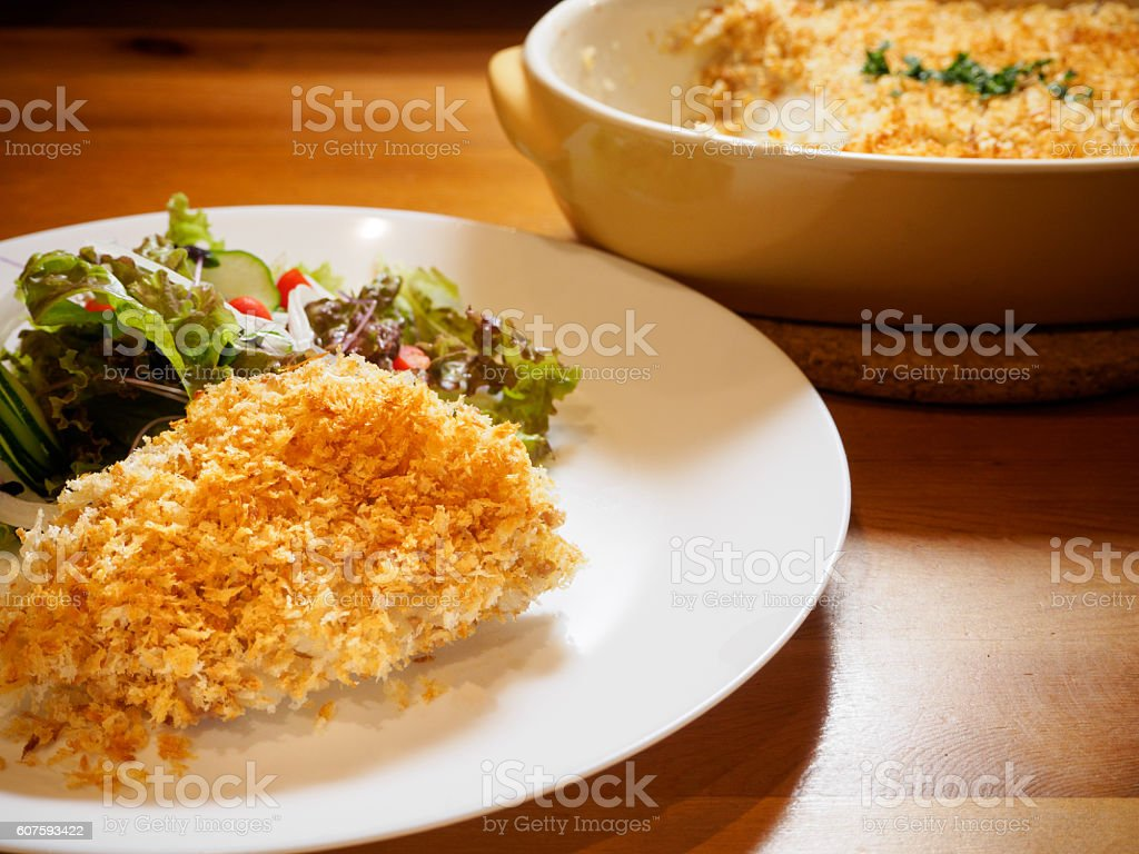 Especially was scoop croquette stock photo