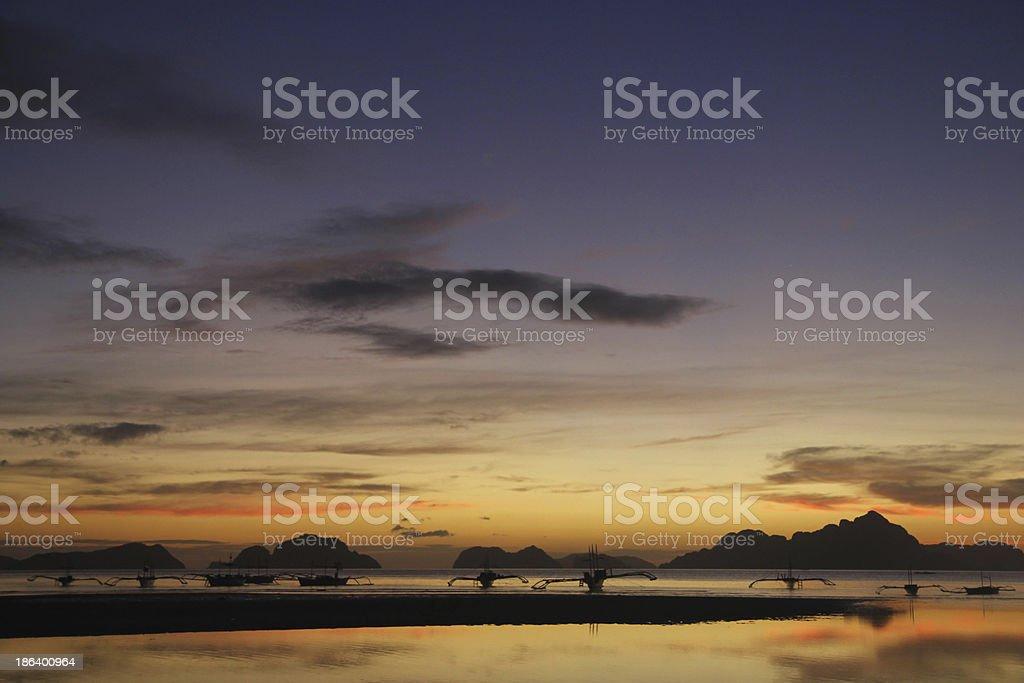 Espectacular puesta de sol stock photo