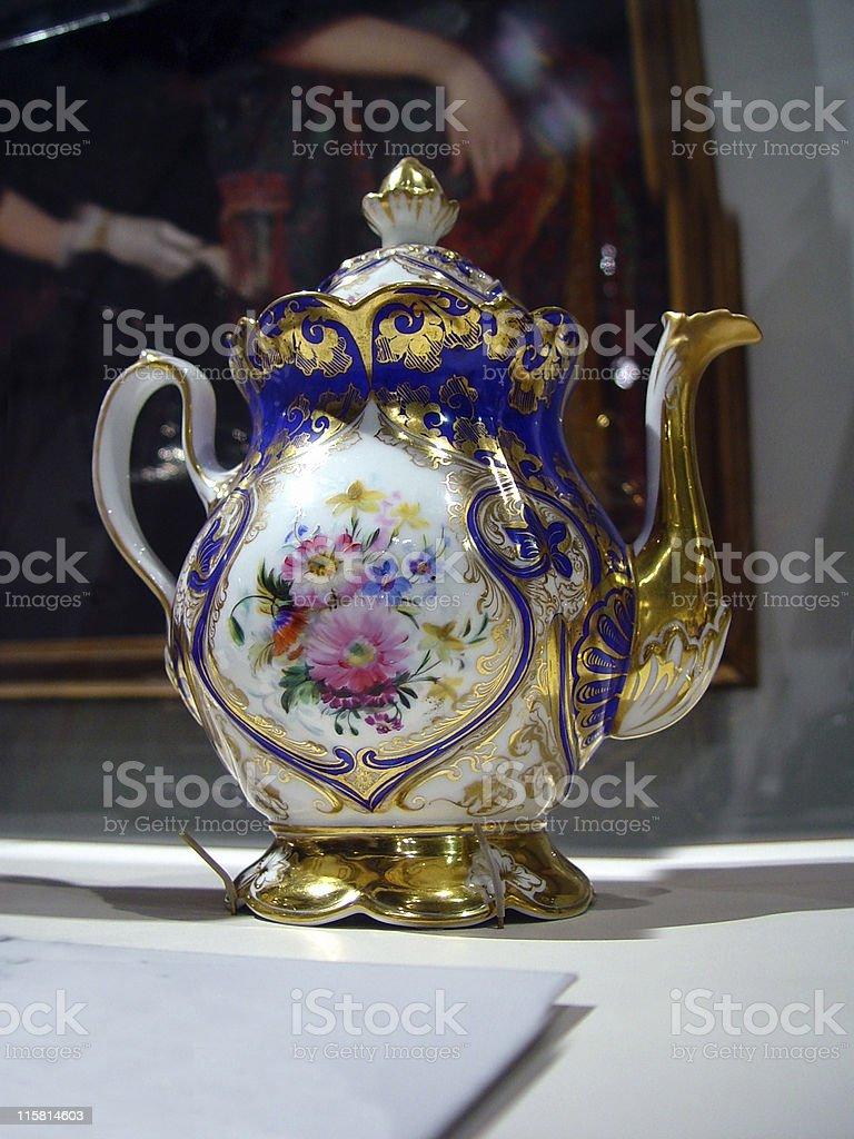 Espensive Tea Pot stock photo