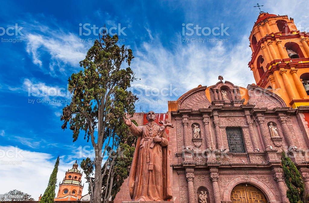 Espinosa Statue San Felipe Church San Miguel de Allende Mexico stock photo