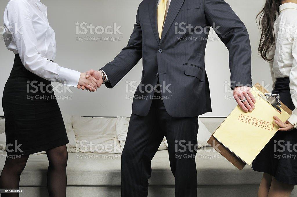 Espionage in Company royalty-free stock photo