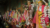 Espiritual guardians, Taung Kalat, Pedestal Hill, Popa Mount, Myanmar