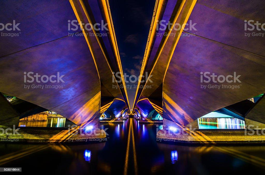 Esplanade Мост Стоковые фото Стоковая фотография