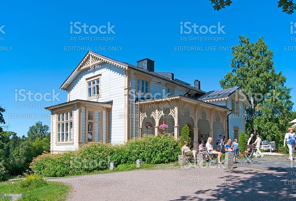 Espoo. Finland. People in cafe stock photo