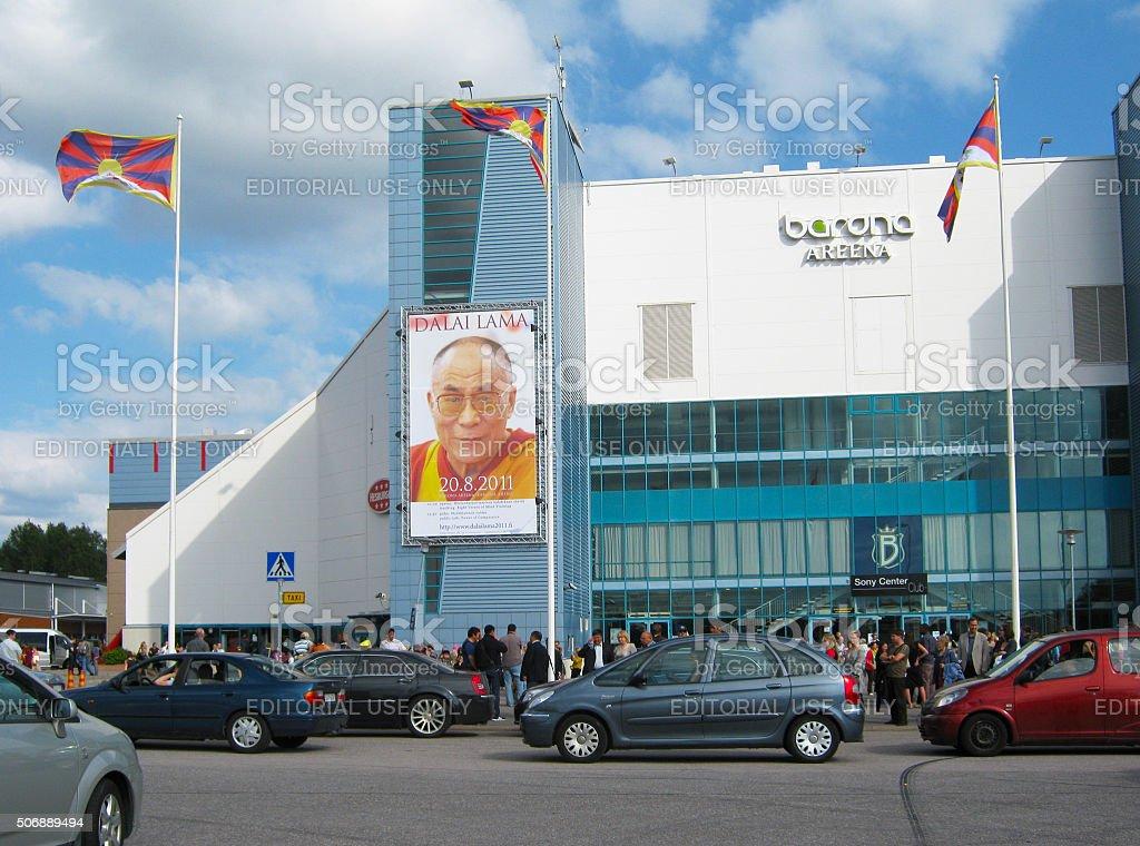 Espoo, Helsinki, Finland. People after teaching of Dalai Lama stock photo