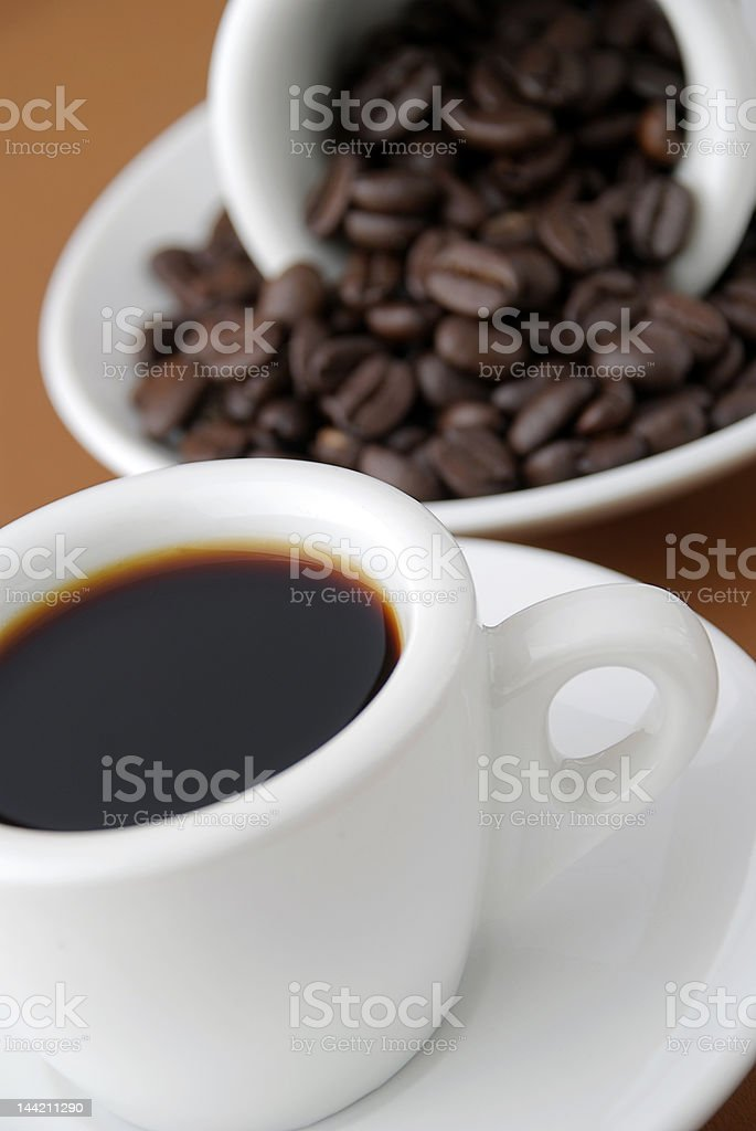 espresso and beans royalty-free stock photo