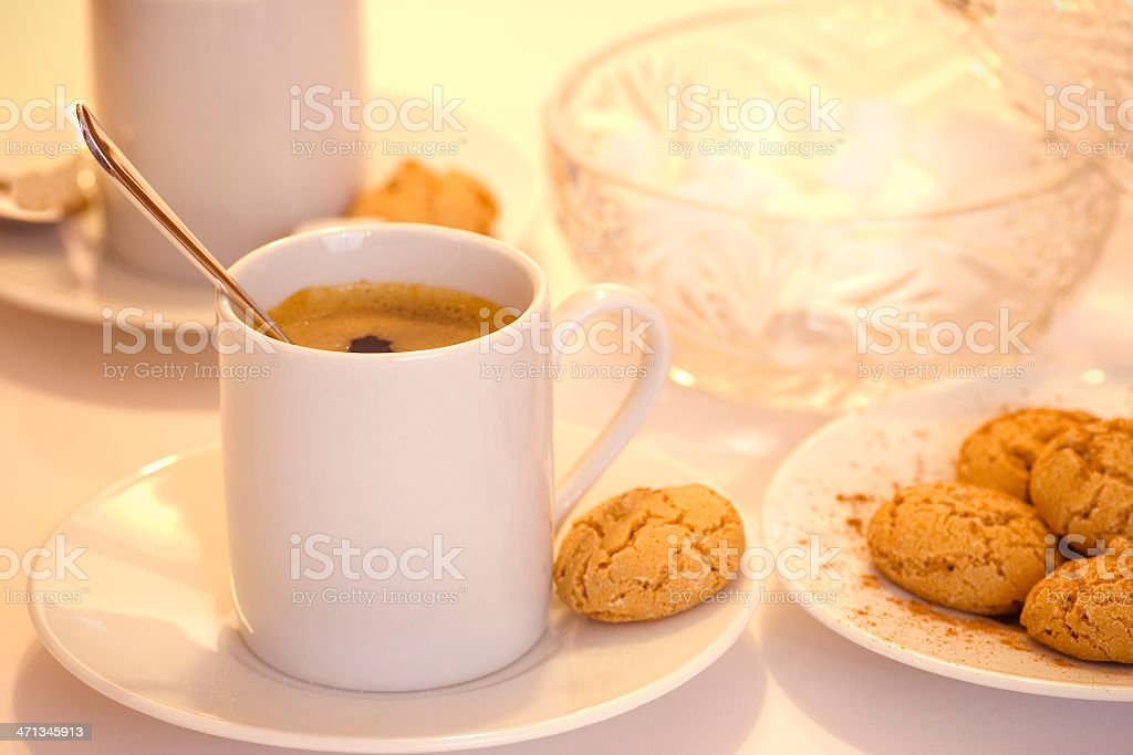 Espresso and Biscuits royalty-free stock photo