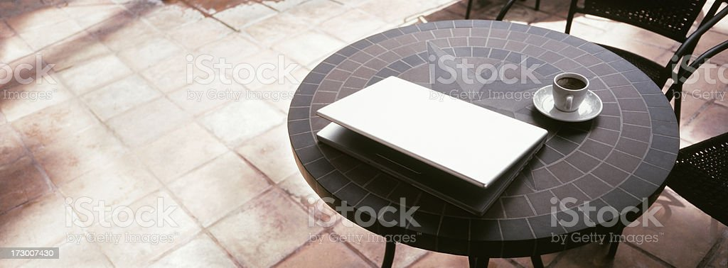 Espresso and Laptop royalty-free stock photo