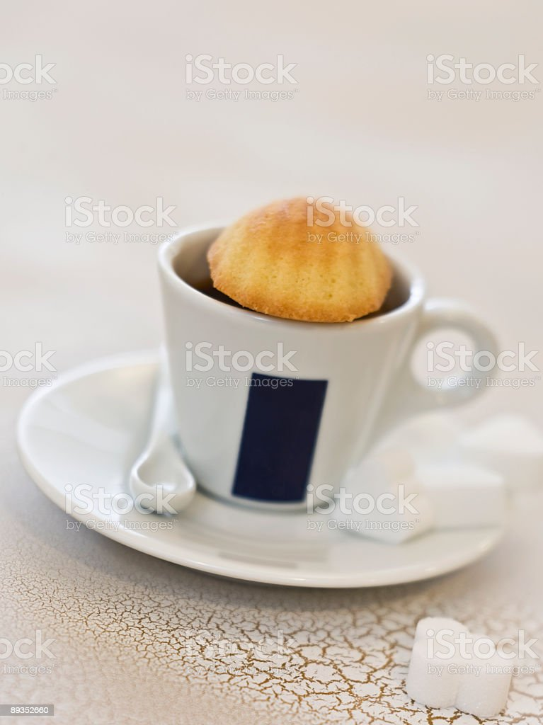 espresso and madeleines for one royalty-free stock photo
