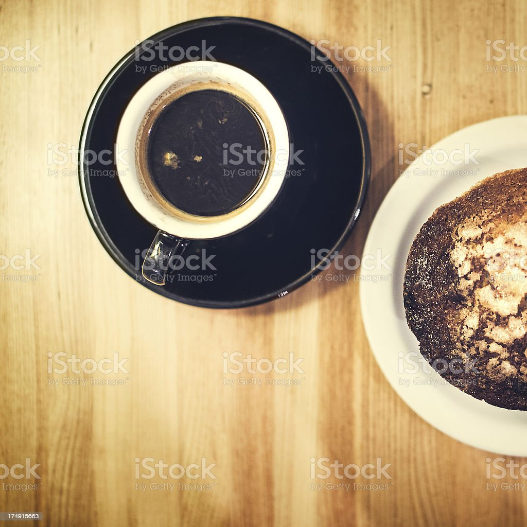 Espresso and Pastries royalty-free stock photo