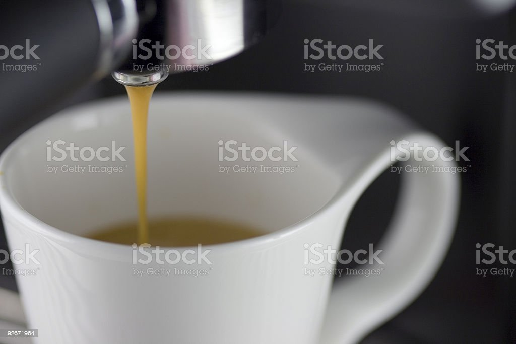 Espresso Brewing stock photo