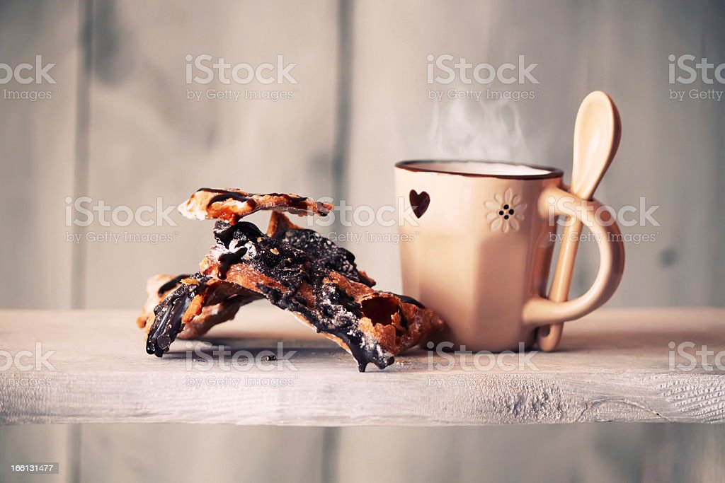 Espresso & chiacchiere royalty-free stock photo