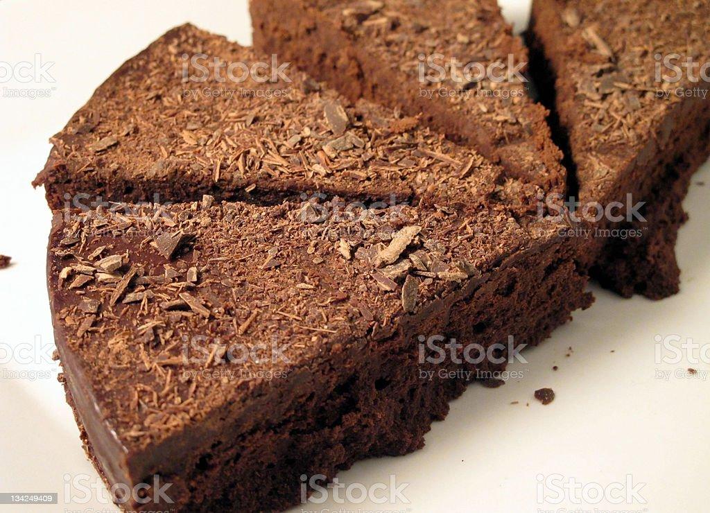 エスプレッソチョコレートのブラウニー ロイヤリティフリーストックフォト
