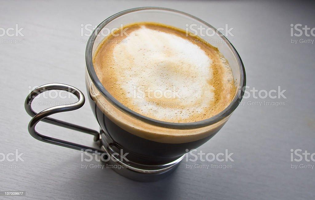 Espresso close up stock photo