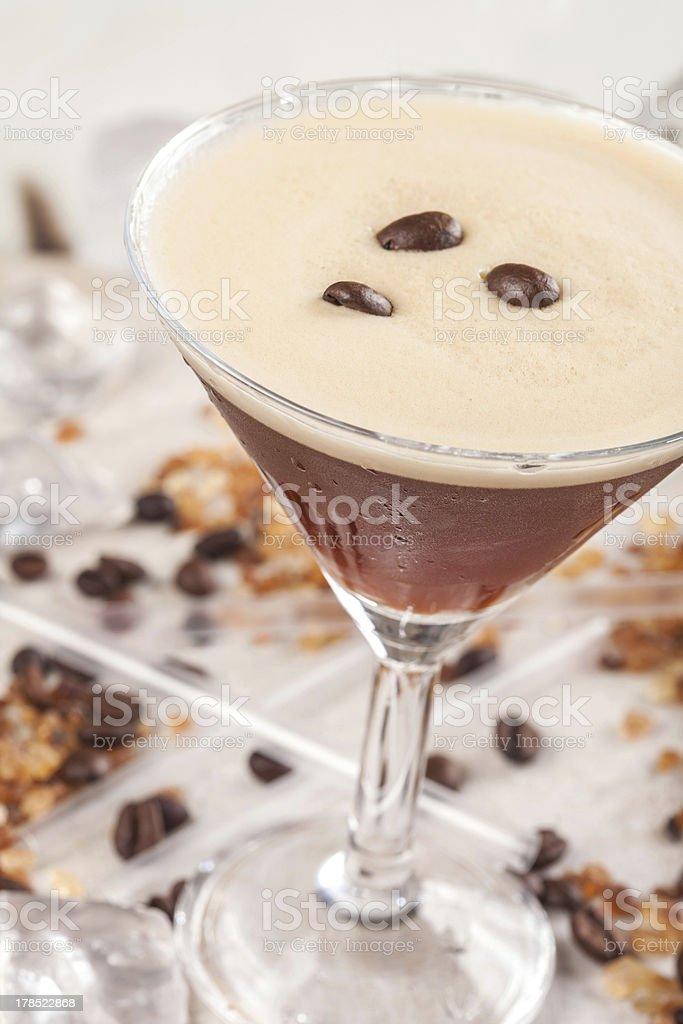 Espresso cocktail stock photo