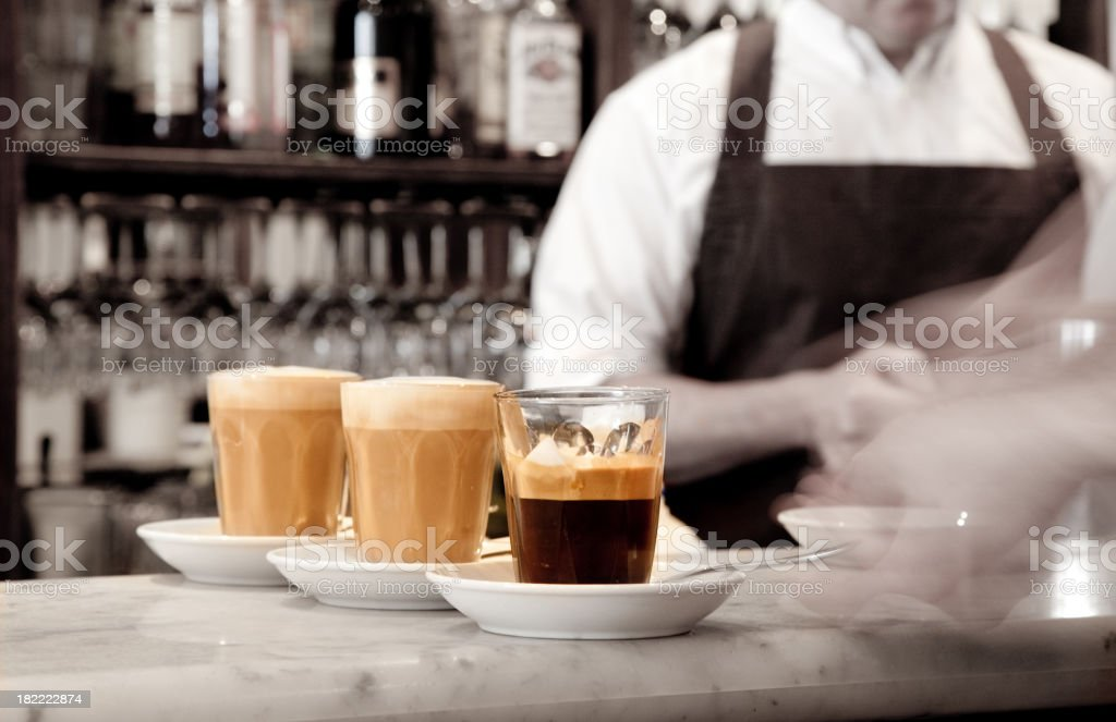 Espresso coffee being served royalty-free stock photo