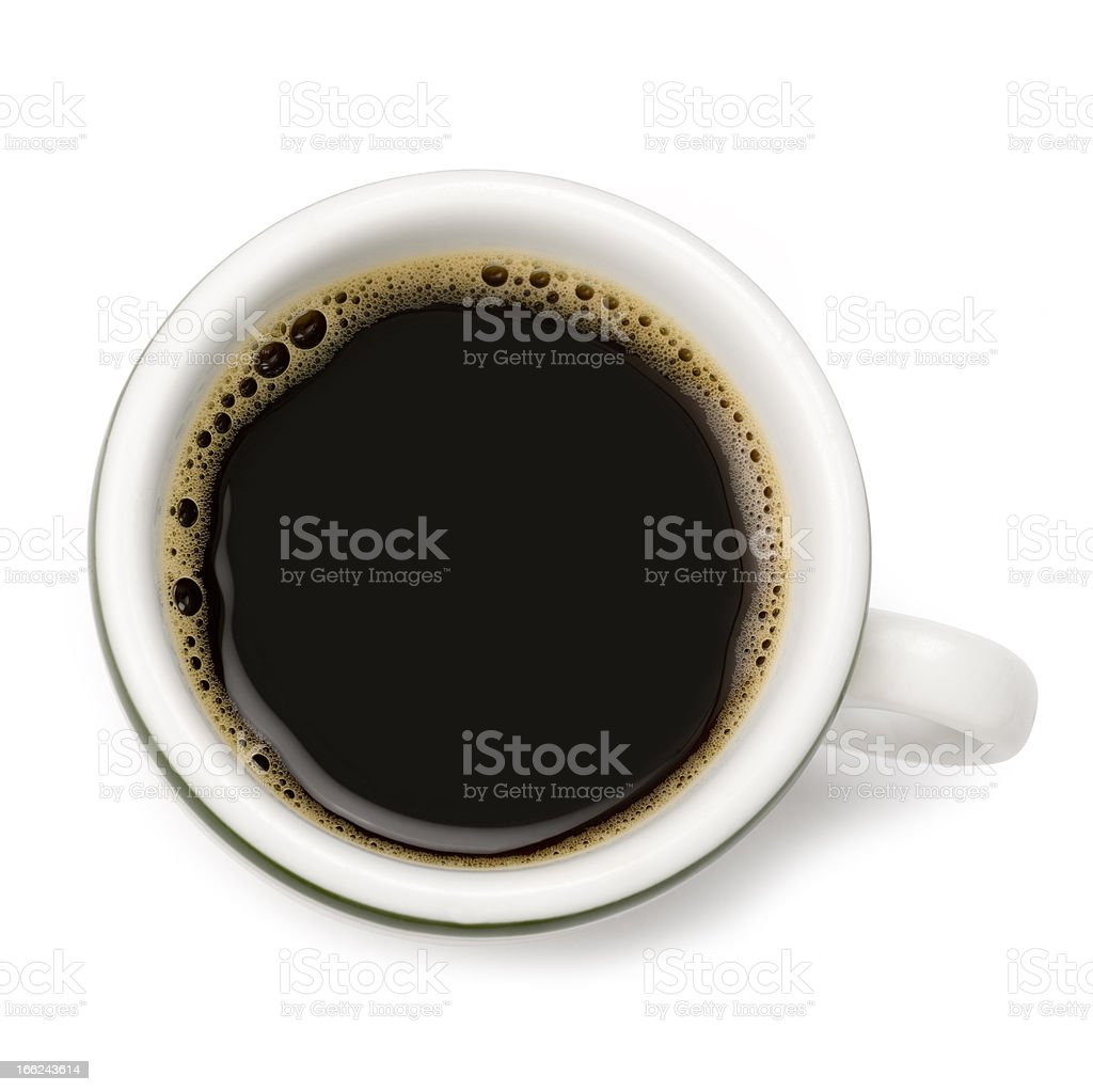 Espresso Coffee. Clipping Path included. stock photo