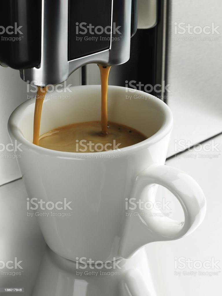 Espresso coffee cup stock photo