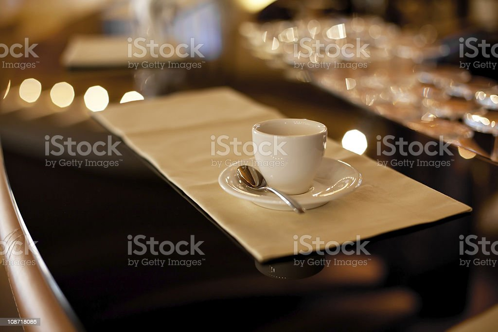 Espresso Coffee in Luxurious Hotel Bar royalty-free stock photo