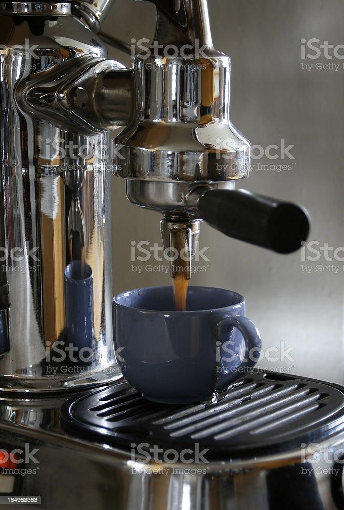 Espresso Coffee, Latte and Cappuccino Maker Machine in Cafe stock photo