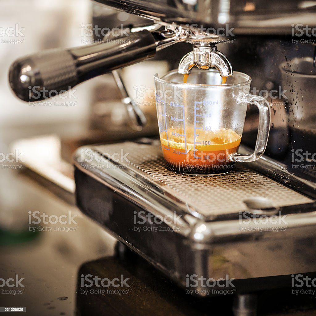 Espresso coffee machine stock photo