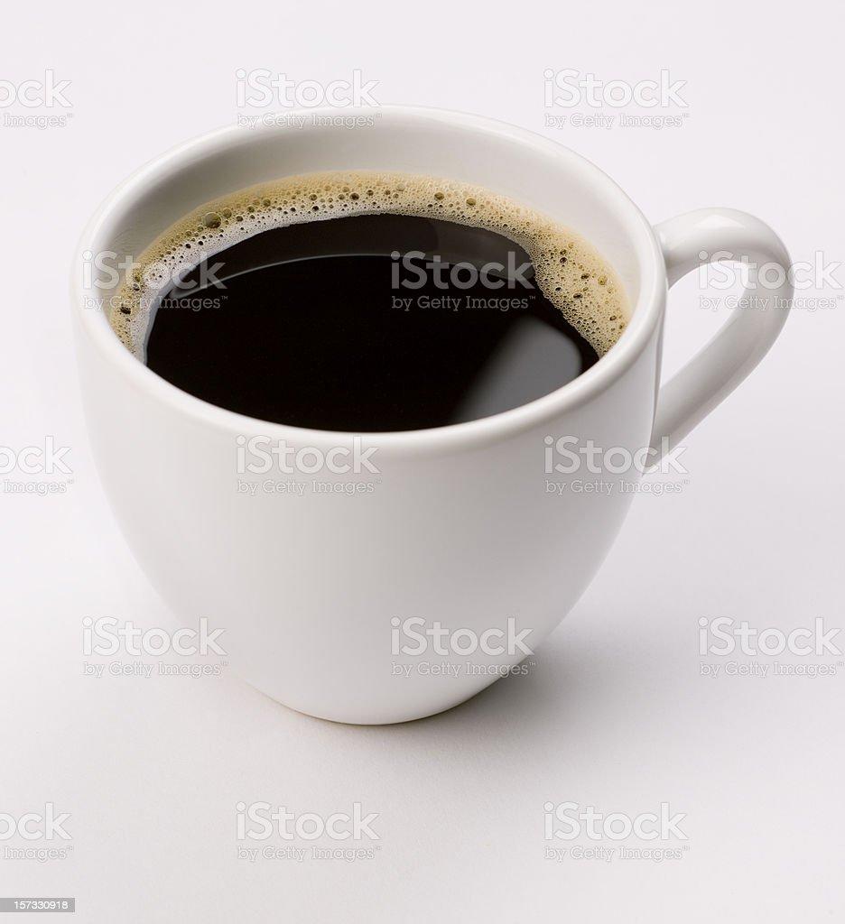 espresso  coffee on white royalty-free stock photo