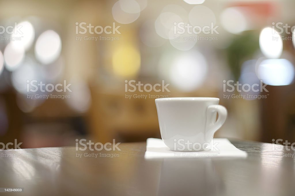 espresso coffee thick white cup in a cafe royalty-free stock photo