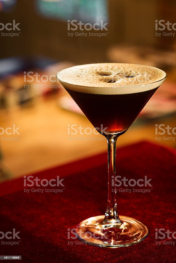 espresso expresso coffee martini cocktail stock photo
