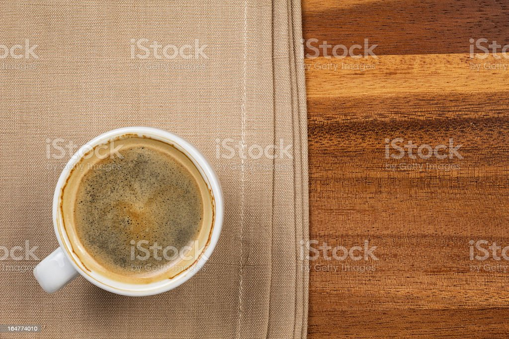 espresso in a cup royalty-free stock photo
