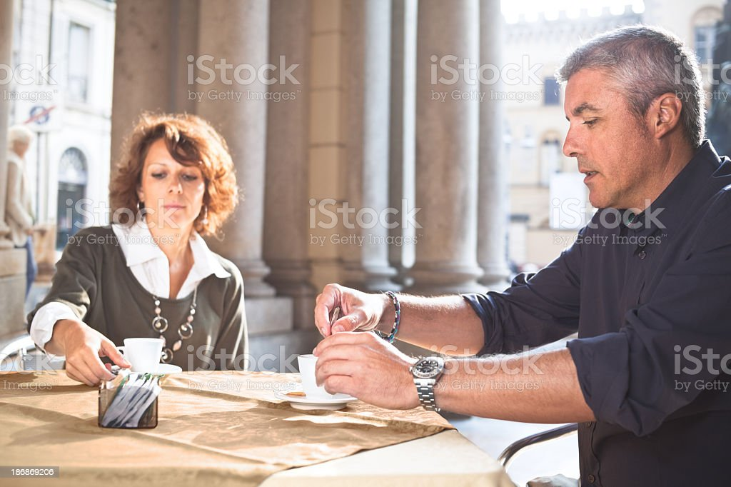 Espresso in Italy stock photo
