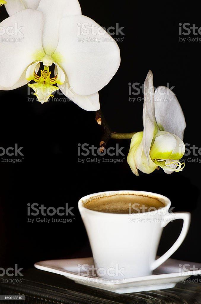 Espresso on black royalty-free stock photo