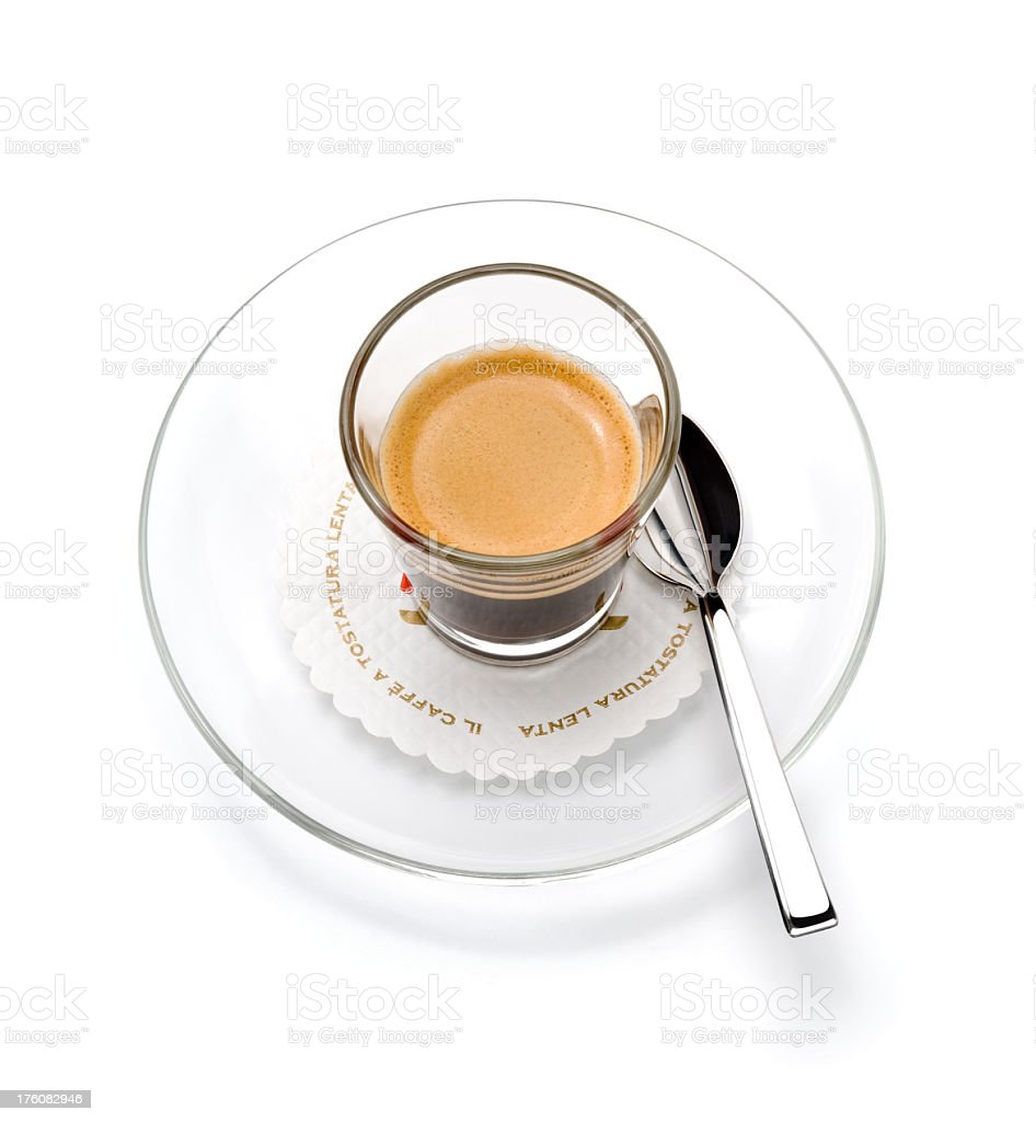 Espresso ('tostatura lenta' is general term for 'slow roasted' coffee) royalty-free stock photo