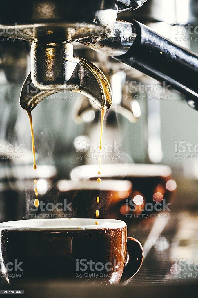 Espresso Preparation stock photo