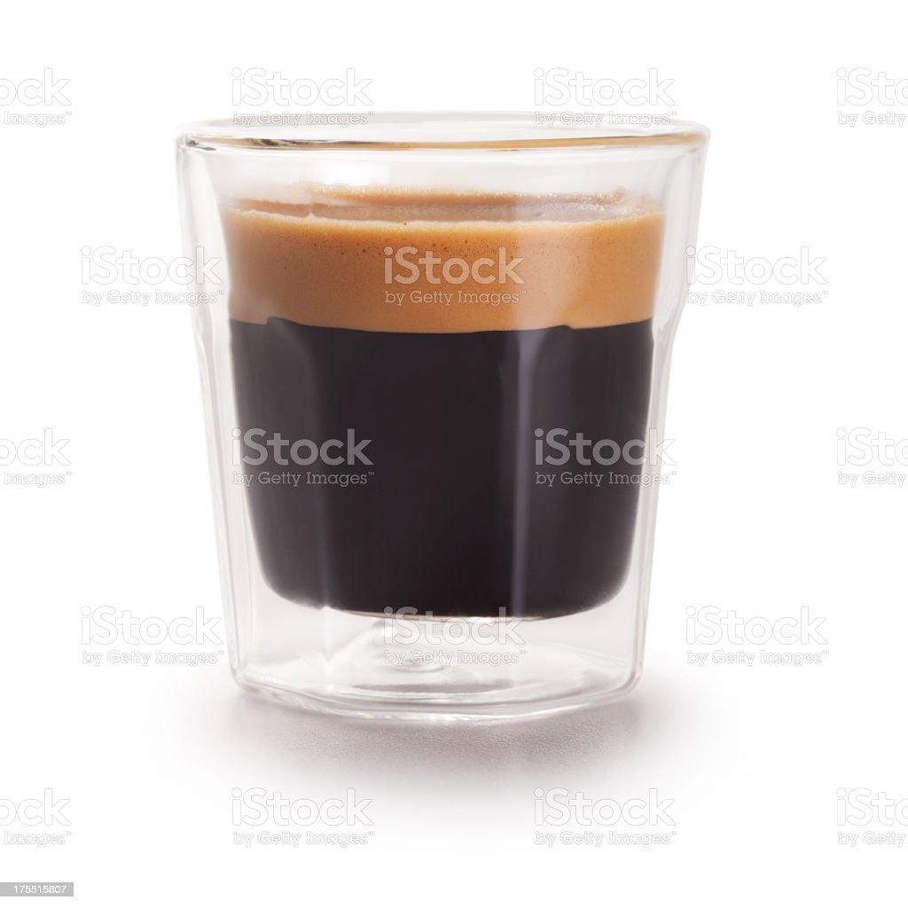 Espresso Shot + Clipping Path stock photo