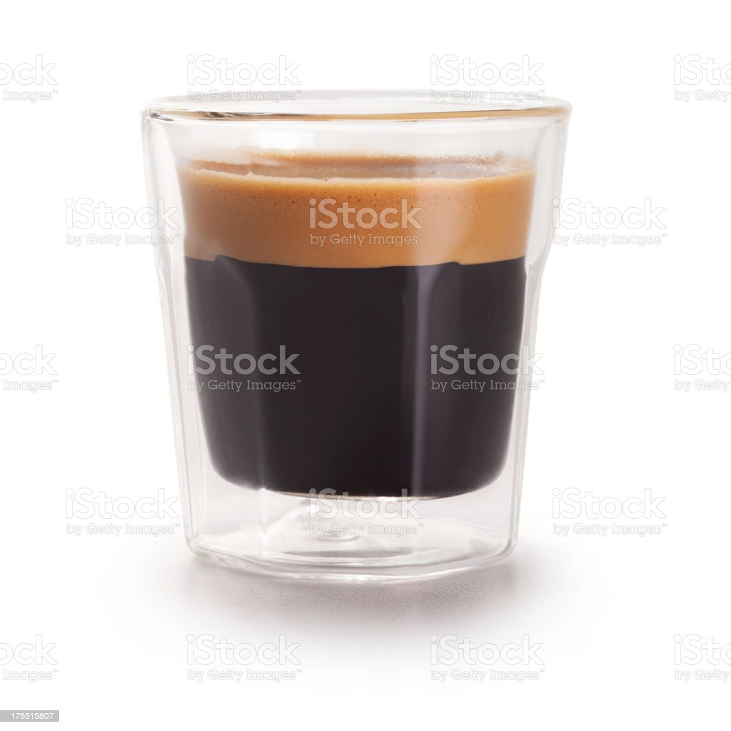 Espresso Shot + Clipping Path stock photo