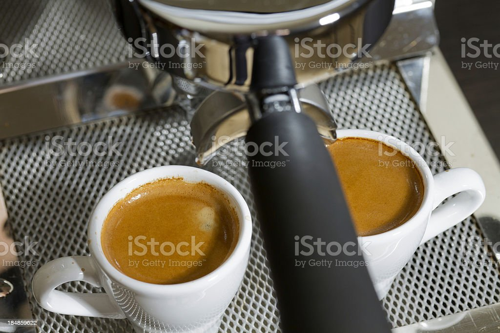 espresso shot with crema royalty-free stock photo