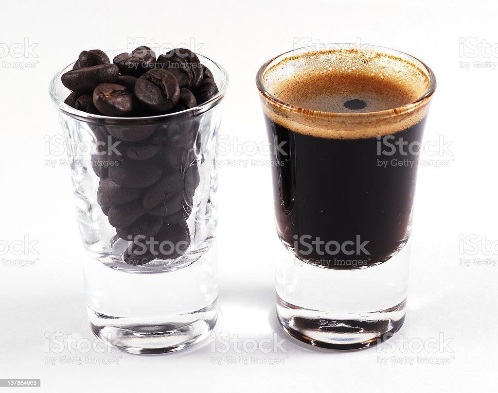 Espresso shots royalty-free stock photo