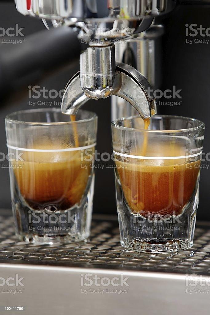 Espresso shots stock photo