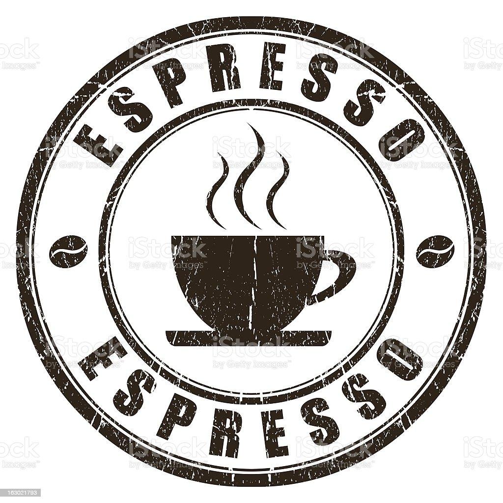Espresso stamp royalty-free stock photo