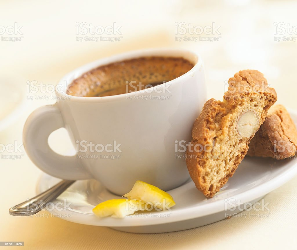 Espresso with biscotti royalty-free stock photo