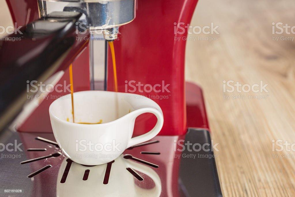 espresso with espresso machine stock photo