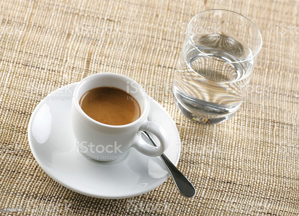 espresso with water royalty-free stock photo