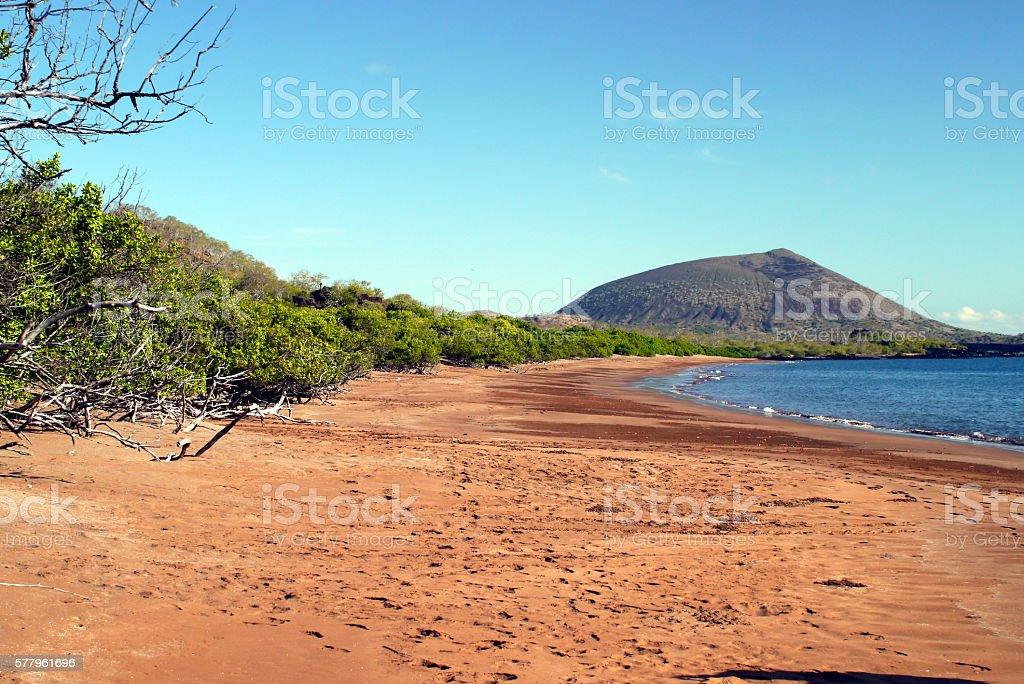 Espumilla Beach, Galapagos stock photo