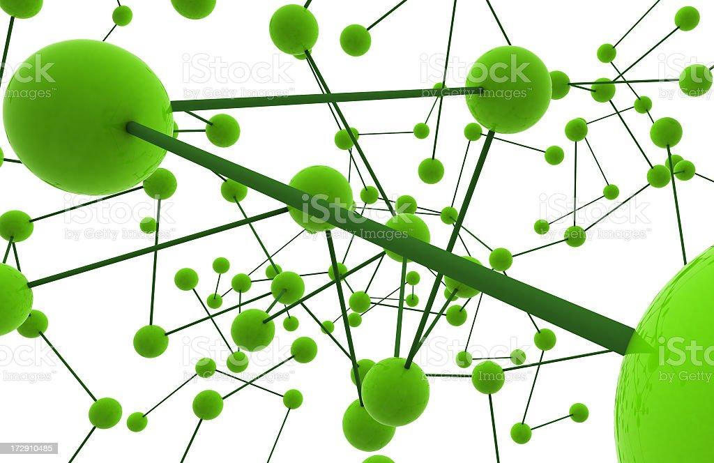 Esquema 3d verde royalty-free stock photo