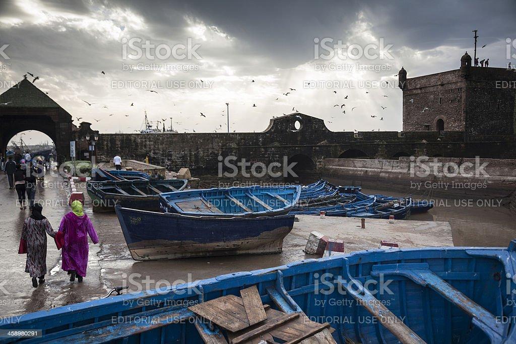 Essaouira, Morocco: The harbour royalty-free stock photo