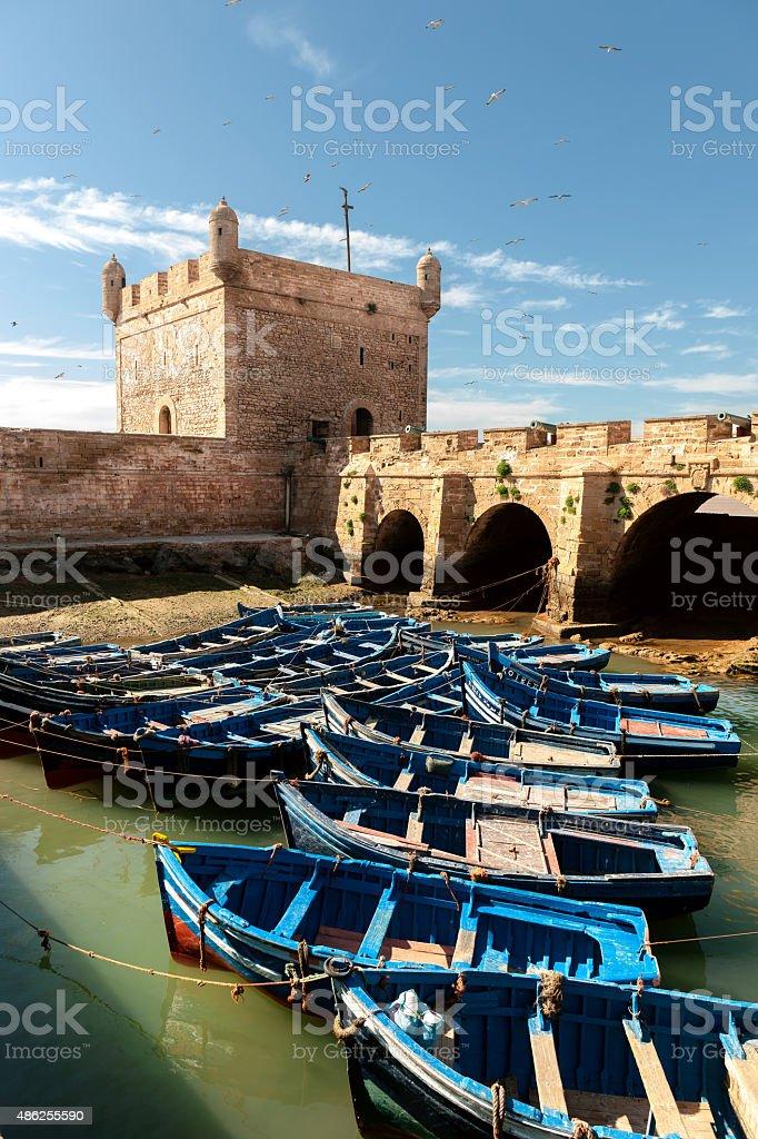 Essaouira port, Fishermans boats, Morocco, North Africa stock photo