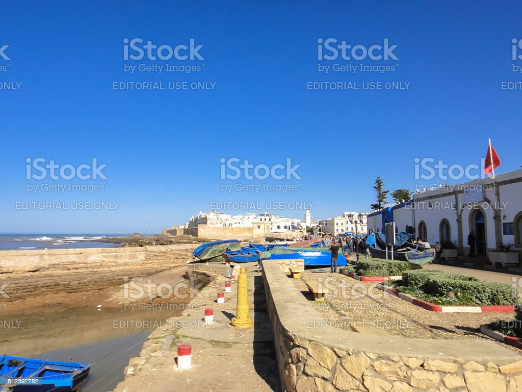 Essaouira seafront stock photo