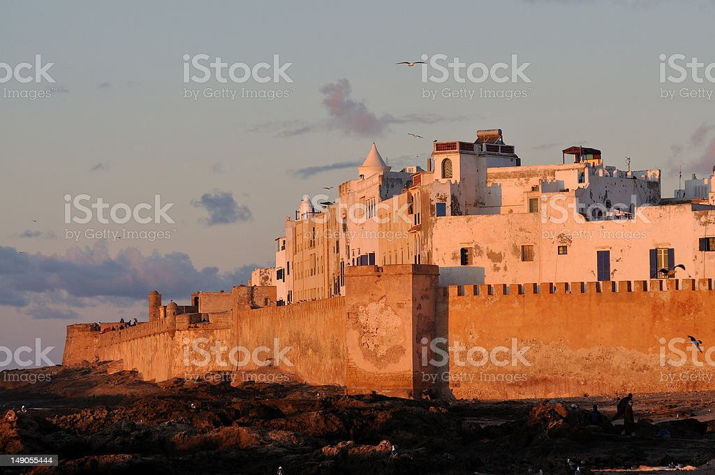 Essaouria in the evening, Morocco stock photo
